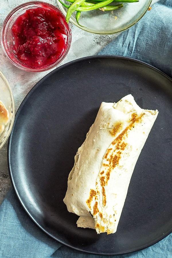 Toasting Thanksgiving Burrito