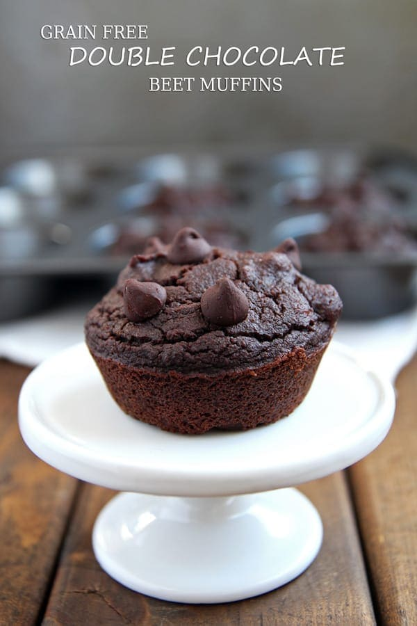 Beet Muffins with Chocolate