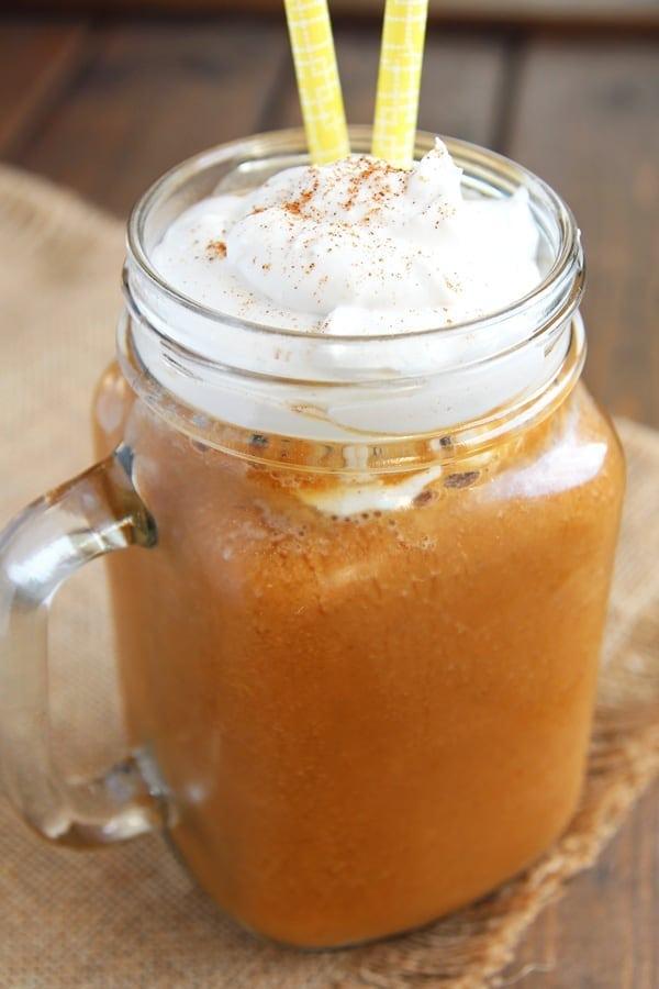 Healthy Pumpkin Spice Frappe