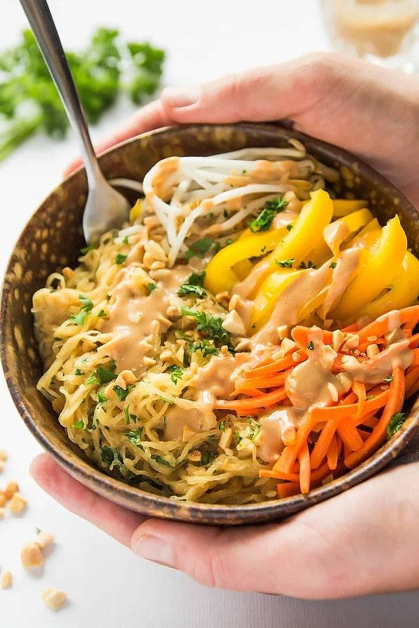 Healthy Thai Spaghetti Squash Bowl