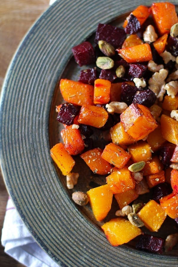 Maple Butternut Squash and Beets