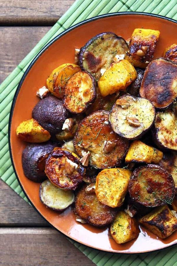 Roasted Potatoes and Squash