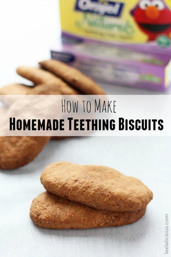 Golden Homemade Teething Biscuits