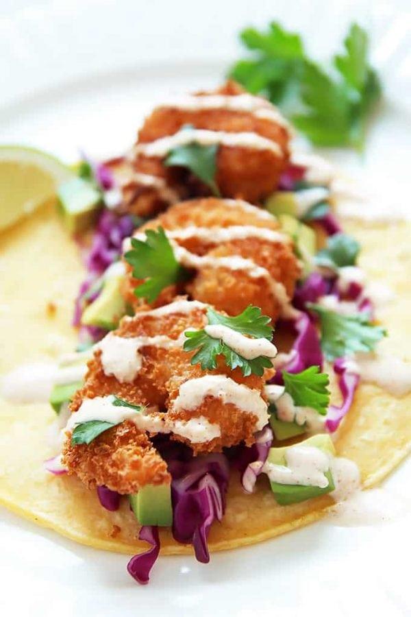 Shrimp Tacos with Yogurt Sauce