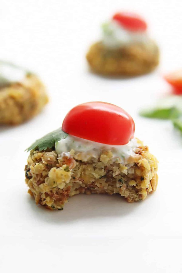 Falafel Topped with Tomato