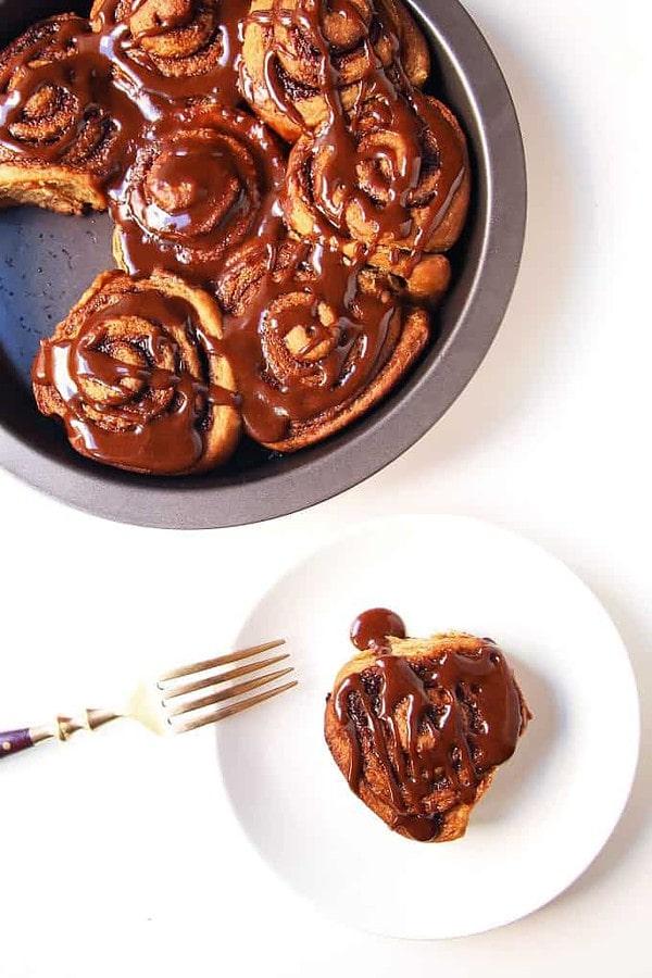 Tray of Gingerbread Cinnamon Rolls