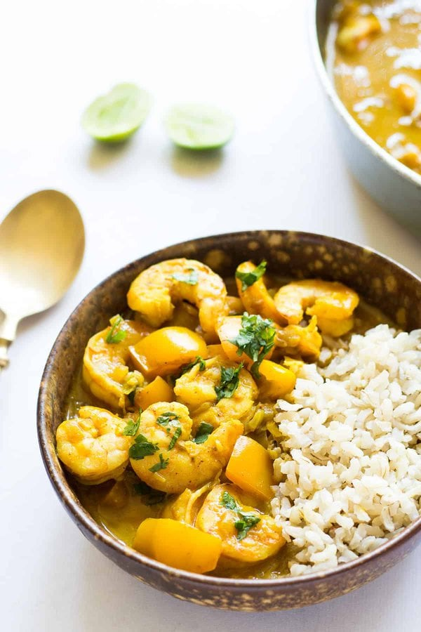 Homemade Coconut Curry Shrimp Recipe