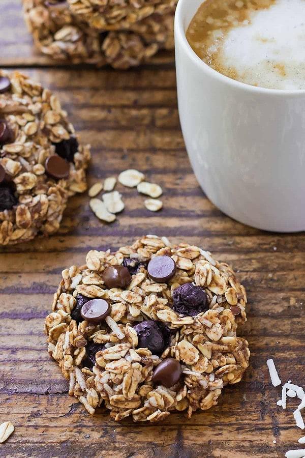 Vegan Blueberry Breakfast Cookies