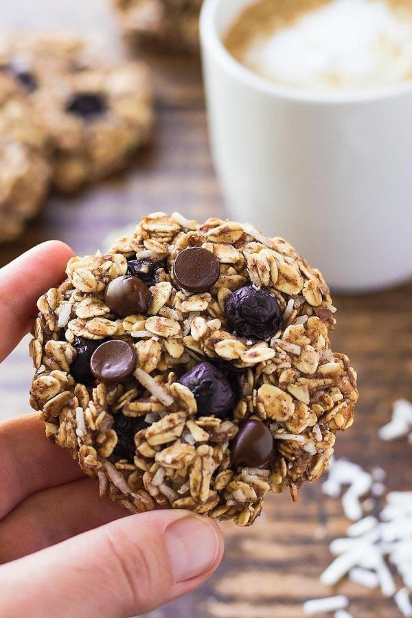Blueberry Chocolate Breakfast Cookies