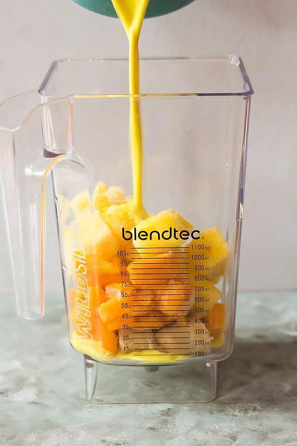 Blending Mango Smoothie
