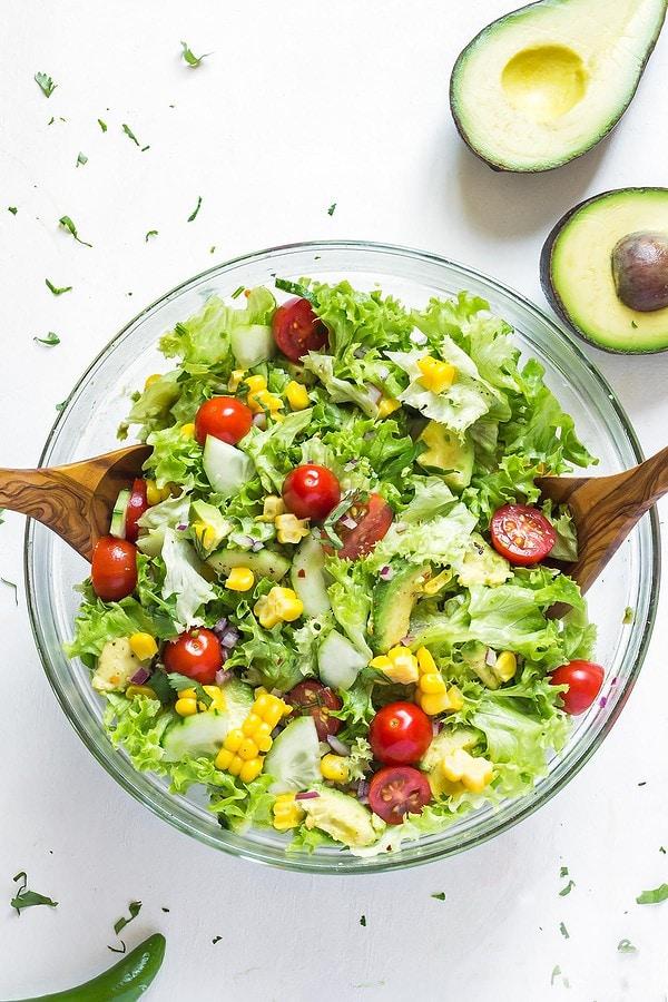 Tossed Avocado Corn Salad