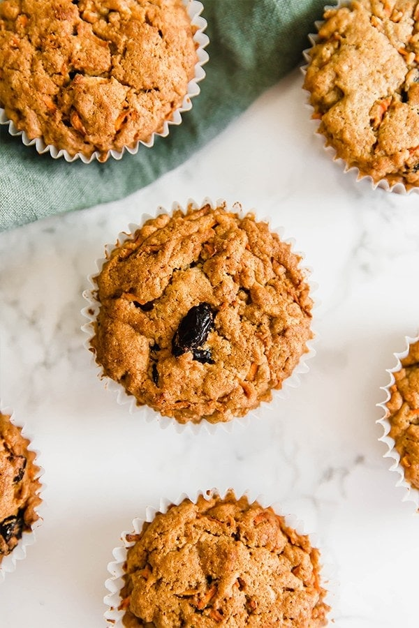 Carrot Cake Muffins made with tigernut flour