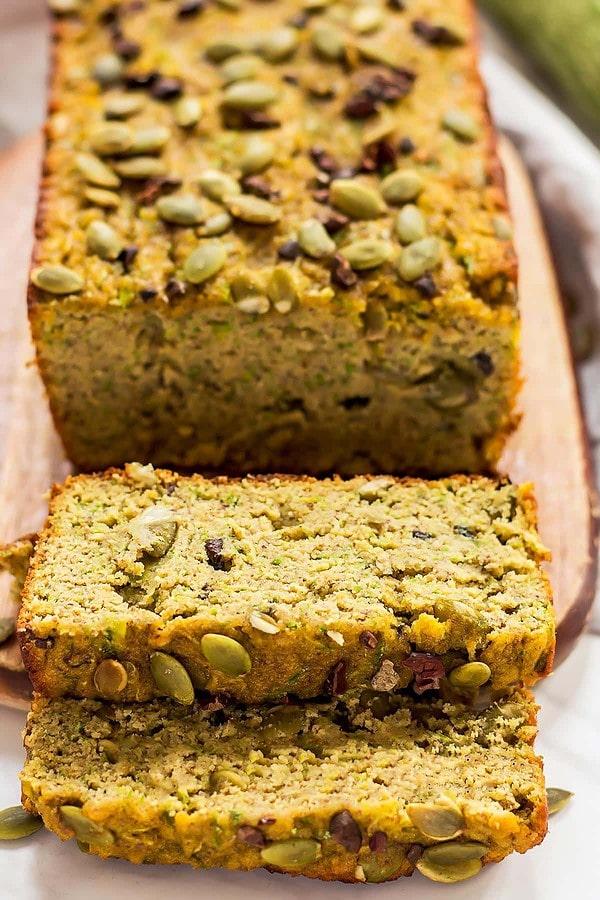Paleo Pumpkin Seed Zucchini Bread