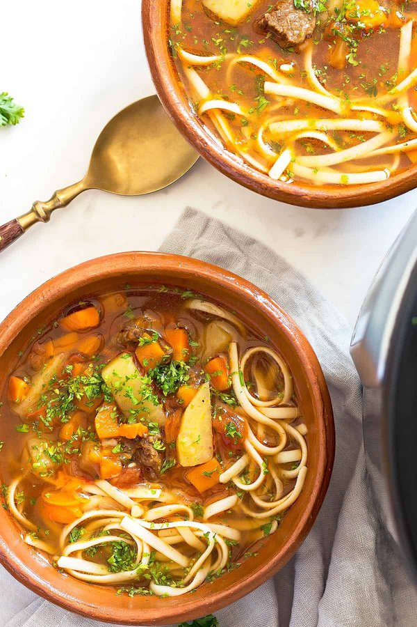 Vegetable Beef Noodle Soup Bowls