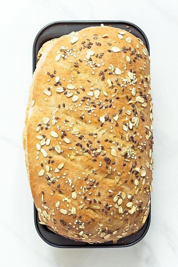 Baked Whole Wheat Sandwich Bread