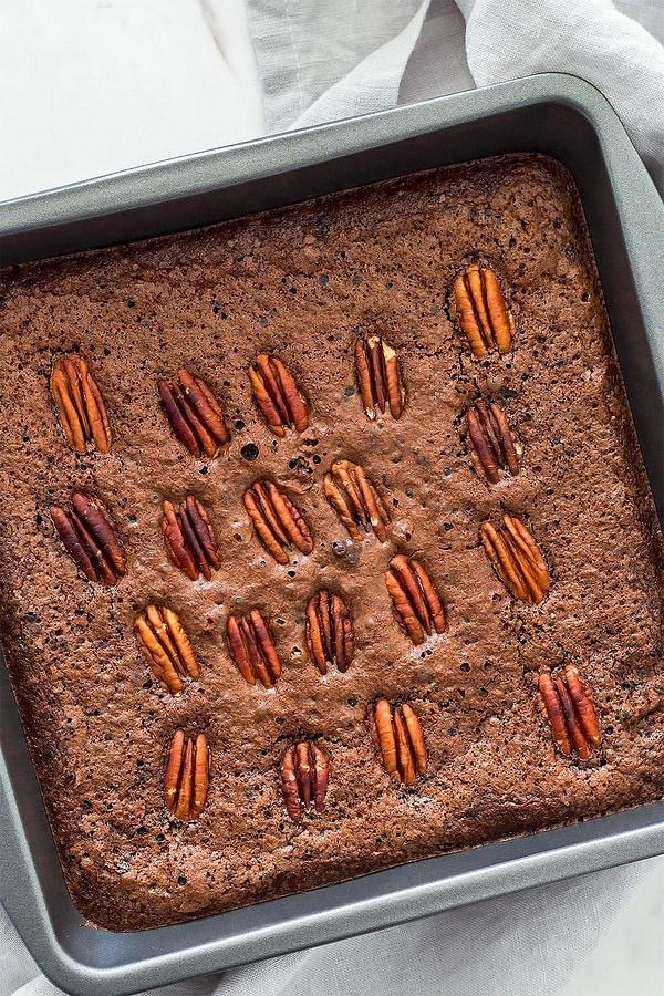 Gluten free brownies with pecans