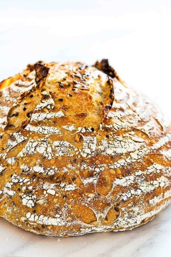 Easy Sourdough Bread with scoring