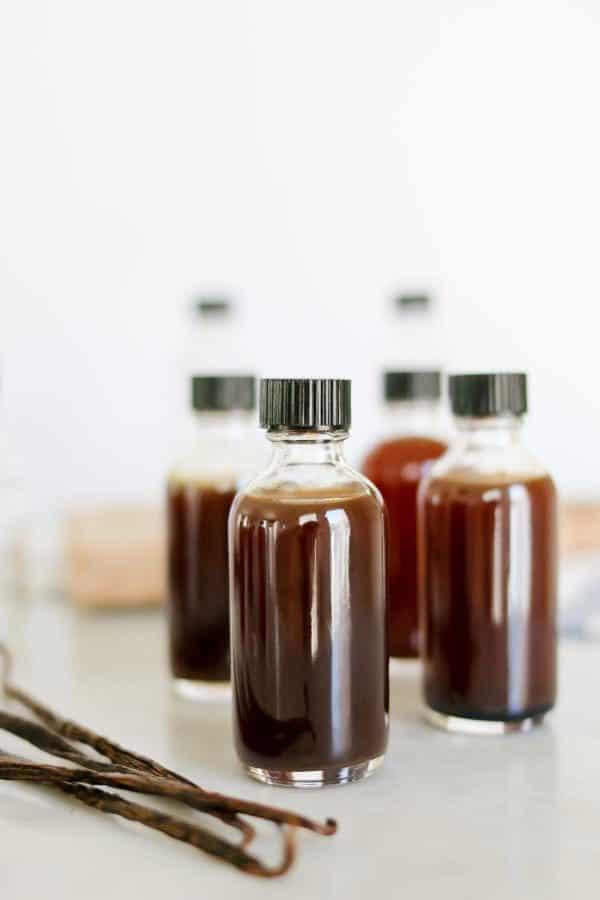 bottles of vanilla extract