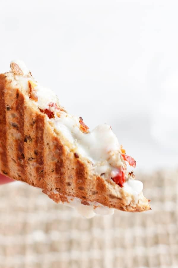 Pressure cooker mozzarella in a grilled sandwich