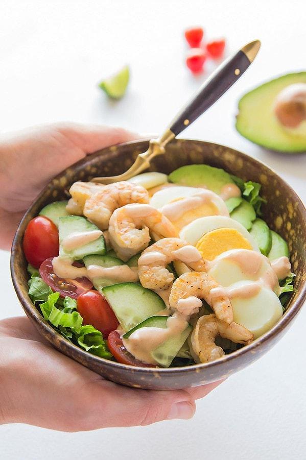 Shrimp Louie Salad with Avocado