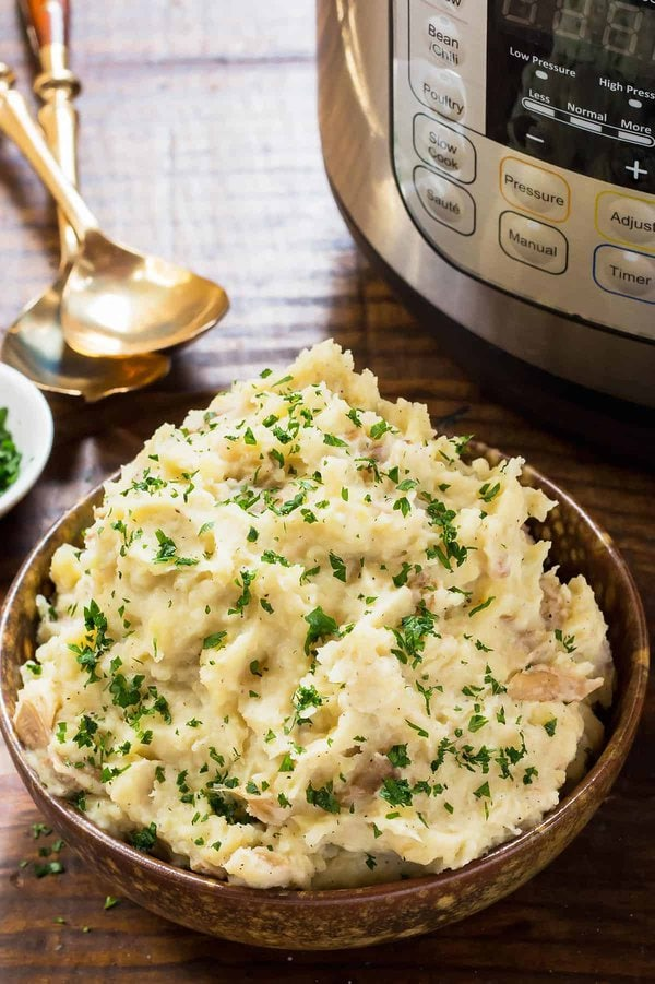 Instant Pot Mashed Potatoes in Bowl