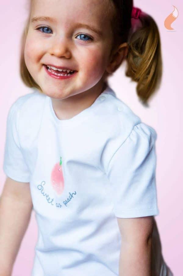 Gymp T-shirt sweet as peach detail