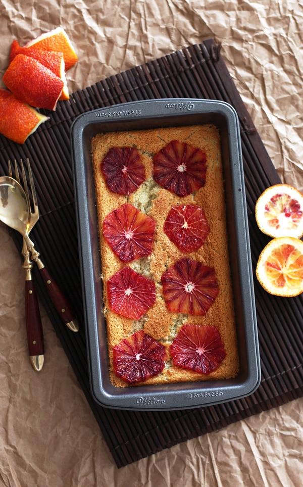 Blood Orange Cake in Pan