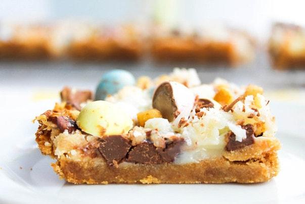 Cadbury Mini Egg Magic Bars from The Salted Cookie