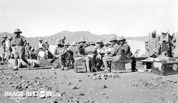 Tea time in one of the camps