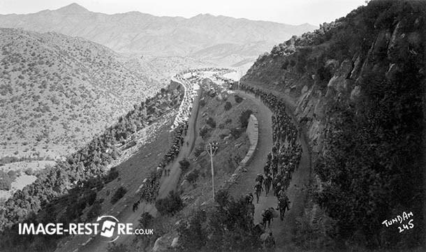 Convoy from Bannu to Razmak (76 Miles) (1936) - 6 Miles from Razmak