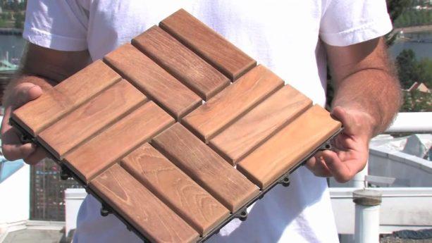 removable interlocking patio tile