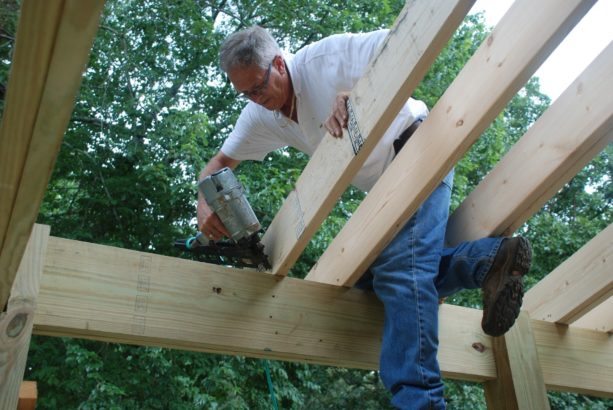 attaching roof rafters to the top plate