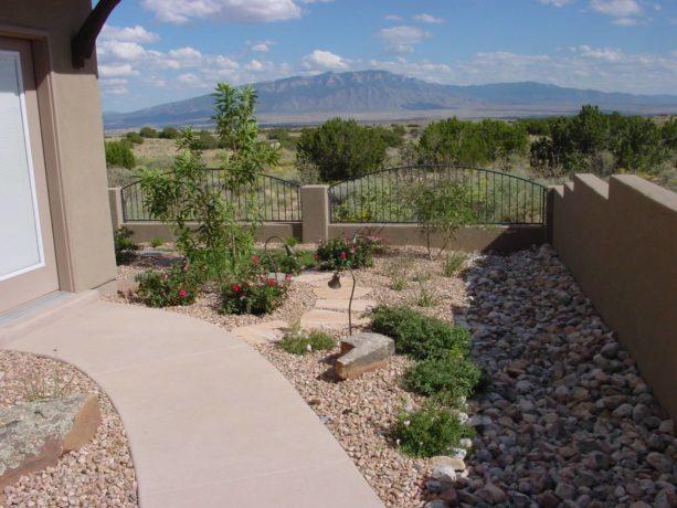 small conventional desert backyard idea with stone landscape