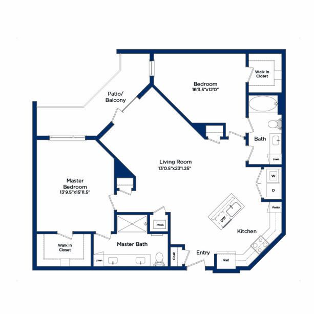 the master bedroom plan of a unique property