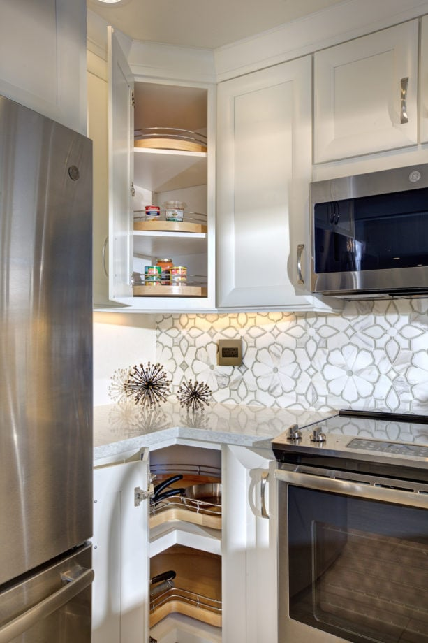 turntable corner cabinet