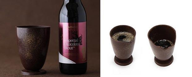 Chocolate wine glass