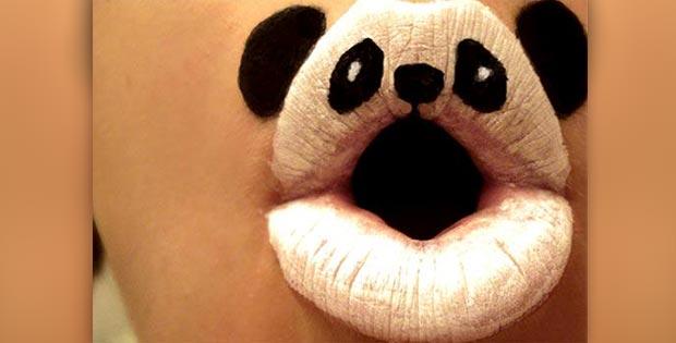 panda lips makeup