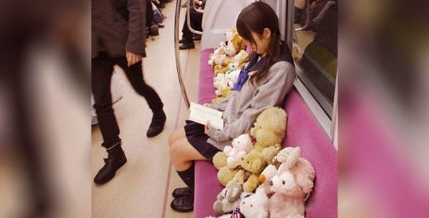Weird China train passenger