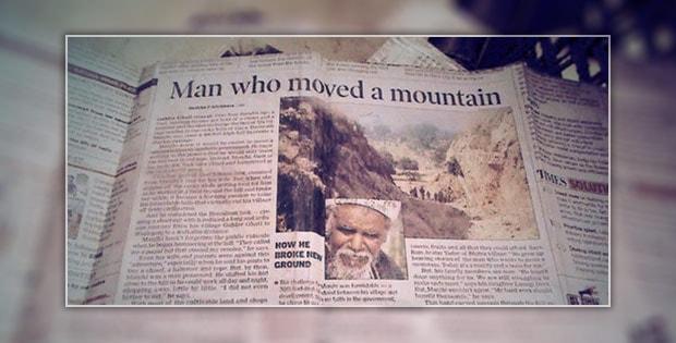 Dashrath Manjhi - the Man who moved a mountain