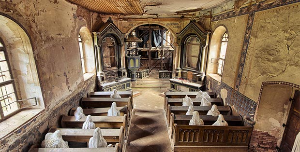 Mysterious abandoned ghost church in Czech Republic