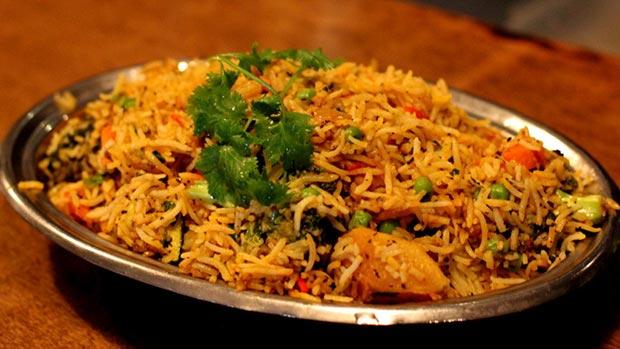 Indian specialties. Vegetable biryani