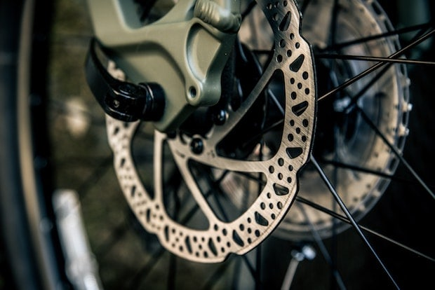 Disc brakes on a bike
