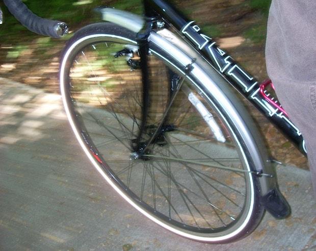Reflective sidewalls on a commuter bike tire