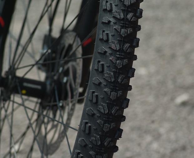 Tread of a bike tire