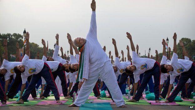 Prime Minister Narendra Modi at International Day of Yoga in Delhi