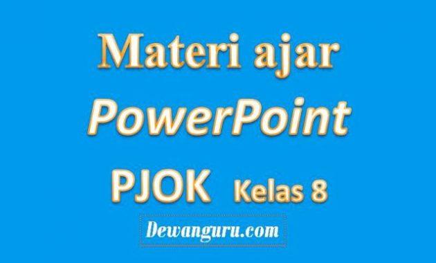 materi ajar pjok smp/mts powerpoint kelas 8