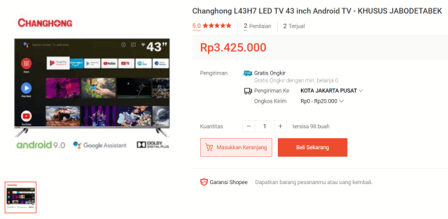 Changhong Android TV L43H7 43″