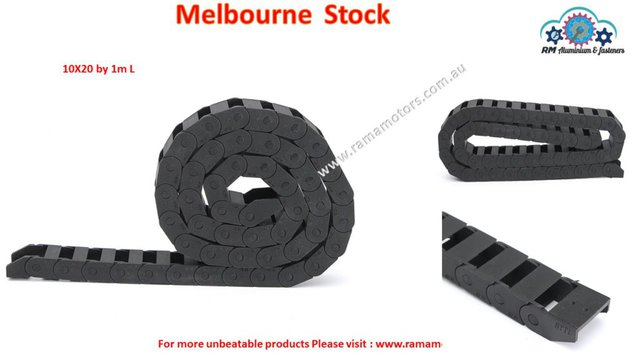 1 Meter 10*20mm Nylon Drag Chain Wire Towline Carrier Cable Track For CNC