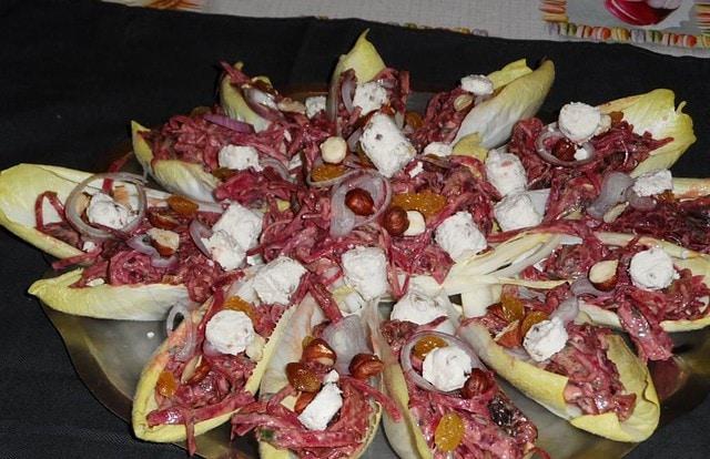 photo de Salade d'endives aux betteraves crues et cuites