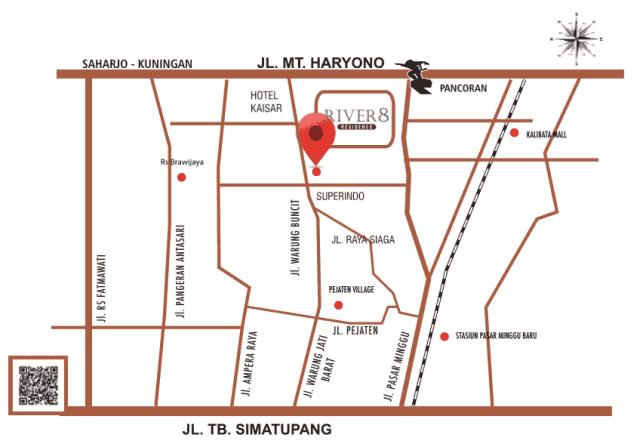 Aparthouse River 8 Residence memiliki lokasi strategis
